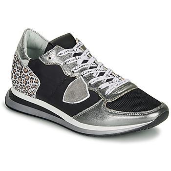 kengät Naiset Matalavartiset tennarit Philippe Model TROPEZ X Black / Hopea