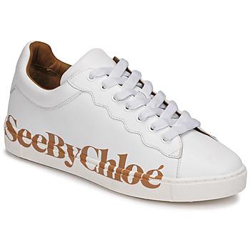 kengät Naiset Matalavartiset tennarit See by Chloé SB33125A White