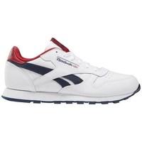 kengät Lapset Matalavartiset tennarit Reebok Sport Classic Leather Valkoiset, Punainen, Tummansininen
