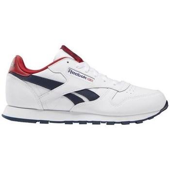 kengät Lapset Matalavartiset tennarit Reebok Sport Classic Leather Valkoiset,Punainen,Tummansininen