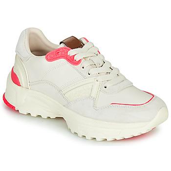 kengät Naiset Matalavartiset tennarit Coach C143 RUNNER Valkoinen / Vaaleanpunainen
