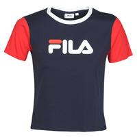vaatteet Naiset Lyhythihainen t-paita Fila SALOME Laivastonsininen / Punainen
