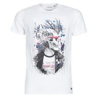 vaatteet Miehet Lyhythihainen t-paita Deeluxe ENFIELDON Valkoinen