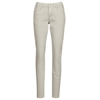 vaatteet Naiset 5-taskuiset housut Cream ANNIE Grey