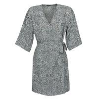 vaatteet Naiset Lyhyt mekko Ikks BQ30415-03 Musta / Valkoinen
