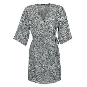 vaatteet Naiset Lyhyt mekko Ikks BQ30415-03 Black / White
