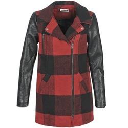vaatteet Naiset Paksu takki Noisy May TEXAS Red / Black
