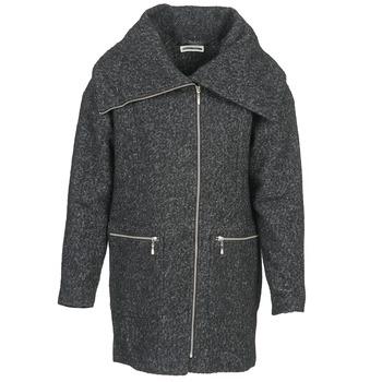 vaatteet Naiset Paksu takki Noisy May ROUND Grey / Black