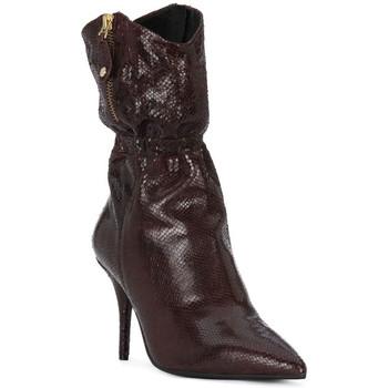kengät Naiset Saappaat Elvio Zanon COBRINO PRUGNA Rosso