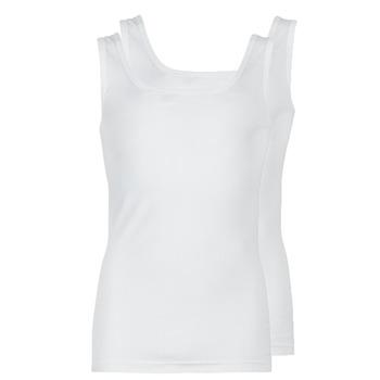 vaatteet Miehet Hihattomat paidat / Hihattomat t-paidat Athena COTON BIO White