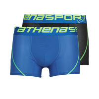 Alusvaatteet Miehet Bokserit Athena AIR PERFORMANCE PACK X2 Black / Blue