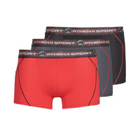 Alusvaatteet Miehet Bokserit Athena TRAINING PACK X3 Black / Red / Grey