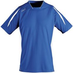 vaatteet Miehet Lyhythihainen t-paita Sols MARACANA 2 SSL SPORT Azul