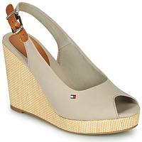 kengät Naiset Sandaalit ja avokkaat Tommy Hilfiger ICONIC ELENA SLING BACK WEDGE Harmaa
