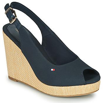 kengät Naiset Sandaalit ja avokkaat Tommy Hilfiger ICONIC ELENA SLING BACK WEDGE Sininen