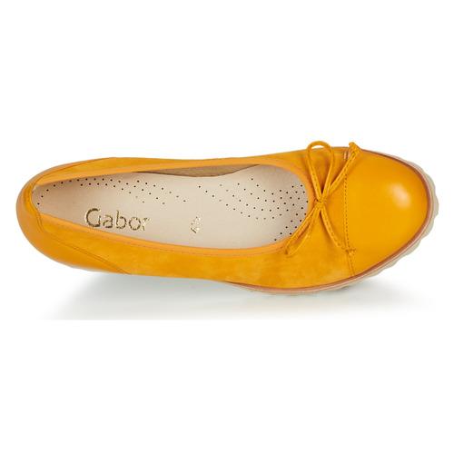 Gabor Krine Yellow - Ilmainen Toimitus- Kengät Balleriinat Naiset 70