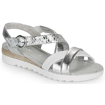 kengät Naiset Sandaalit ja avokkaat Gabor KRIZI Hopea