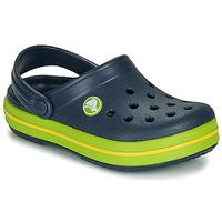 kengät Lapset Puukengät Crocs CROCBAND CLOG K Laivastonsininen / Vihreä