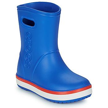 kengät Lapset Kumisaappaat Crocs CROCBAND RAIN BOOT K Blue / Red