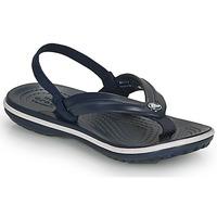 kengät Lapset Sandaalit ja avokkaat Crocs CROCBAND STRAP FLIP K Laivastonsininen
