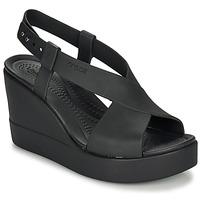 kengät Naiset Sandaalit ja avokkaat Crocs CROCS BROOKLYN HIGH WEDGE W Musta