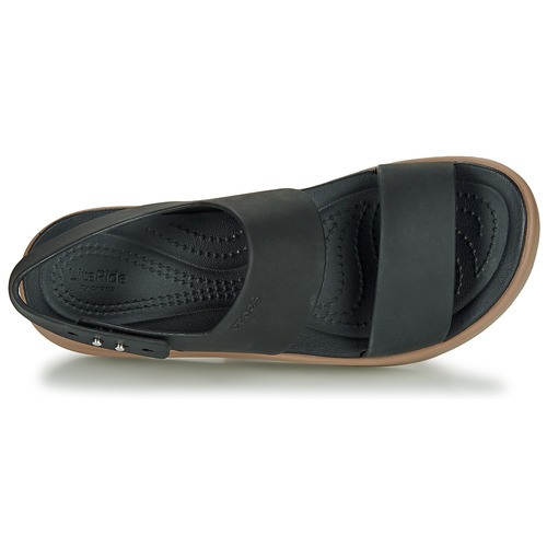 Crocs Brooklyn Low Wedge W Black / Camel - Ilmainen Toimitus- Kengät Sandaalit Naiset 50