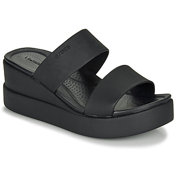 kengät Naiset Sandaalit ja avokkaat Crocs CROCS BROOKLYN MID WEDGE W Black