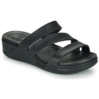 kengät Naiset Sandaalit ja avokkaat Crocs CROCS MONTEREY WEDGE W Musta