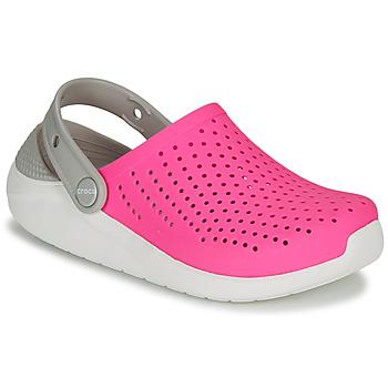 kengät Tytöt Puukengät Crocs LITERIDE CLOG K Pink / White