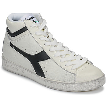 kengät Korkeavartiset tennarit Diadora GAME L HIGH WAXED White / Black