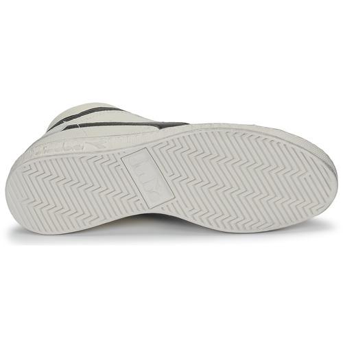 Diadora Game L High Waxed White / Black - Ilmainen Toimitus- Kengät Korkeavartiset Tennarit