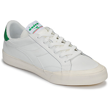 kengät Naiset Matalavartiset tennarit Diadora MELODY LEATHER DIRTY White / Green