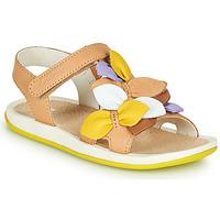 kengät Tytöt Sandaalit ja avokkaat Camper TWINS Ruskea / Keltainen