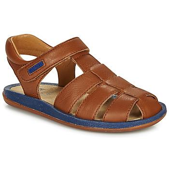 kengät Lapset Sandaalit ja avokkaat Camper BICHO Brown / Laivastonsininen