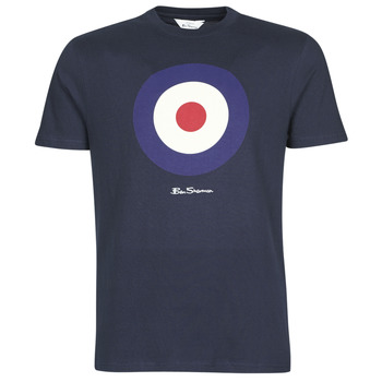 vaatteet Miehet Lyhythihainen t-paita Ben Sherman SIGNATURE TARGET TEE Laivastonsininen