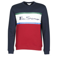 vaatteet Miehet Svetari Ben Sherman COLOUR BLOCKED LOGO SWEAT Laivastonsininen / Red