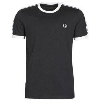 vaatteet Miehet Lyhythihainen t-paita Fred Perry TAPED RINGER T-SHIRT Black