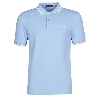 vaatteet Miehet Lyhythihainen poolopaita Fred Perry TWIN TIPPED FRED PERRY SHIRT Sininen