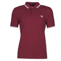 vaatteet Miehet Lyhythihainen poolopaita Fred Perry TWIN TIPPED FRED PERRY SHIRT Bordeaux