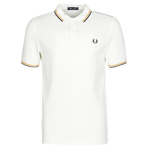 vaatteet Miehet Lyhythihainen poolopaita Fred Perry TWIN TIPPED FRED PERRY SHIRT White