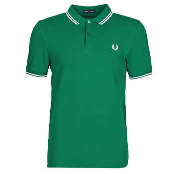 vaatteet Miehet Lyhythihainen poolopaita Fred Perry TWIN TIPPED FRED PERRY SHIRT Green