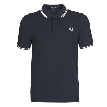 vaatteet Miehet Lyhythihainen poolopaita Fred Perry TWIN TIPPED FRED PERRY SHIRT Blue / White