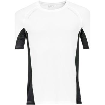 vaatteet Miehet Lyhythihainen t-paita Sols SYDNEY MEN SPORT Blanco