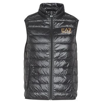 vaatteet Miehet Toppatakki Emporio Armani EA7 CORE ID 8NPQ02 Black / Kulta