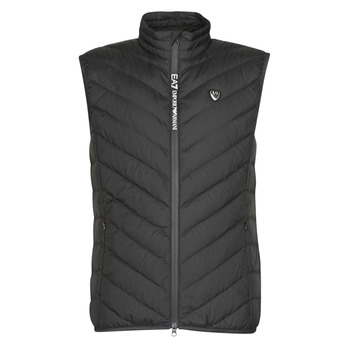 vaatteet Miehet Toppatakki Emporio Armani EA7 TRAIN CORE SHIELD M DOWN LIGHT VEST Black