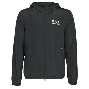 vaatteet Miehet Tuulitakit Emporio Armani EA7 TRAIN CORE ID M JACKET Black