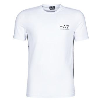 vaatteet Miehet Lyhythihainen t-paita Emporio Armani EA7 TRAIN LOGO SERIES M TAPE TEE ST White
