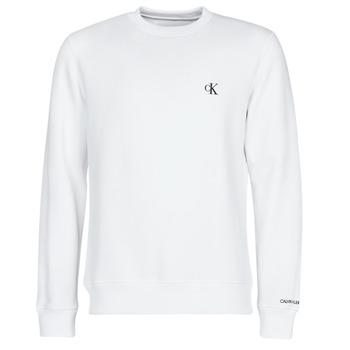 vaatteet Miehet Svetari Calvin Klein Jeans CK ESSENTIAL REG CN Valkoinen