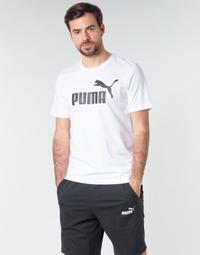 vaatteet Miehet Lyhythihainen t-paita Puma ESSENTIAL TEE White