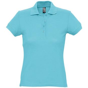 vaatteet Naiset Lyhythihainen poolopaita Sols PASSION WOMEN COLORS Azul